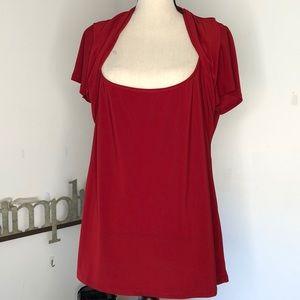 Torrid red scoop neck top size 2 EUC